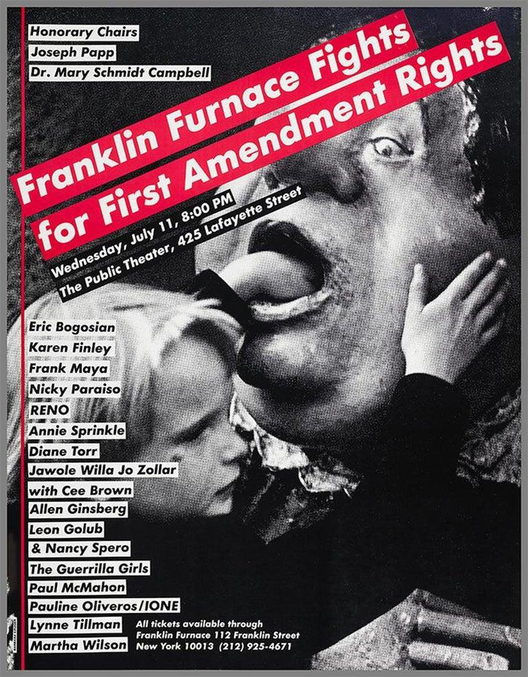 Barbara Kruger Franklin Furnace Rights poster  - Print by Barbara Kruger