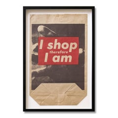 I Shop Therefore I Am, Shopping Bag Multiple, 1990, Contemporary Art, Pop Art