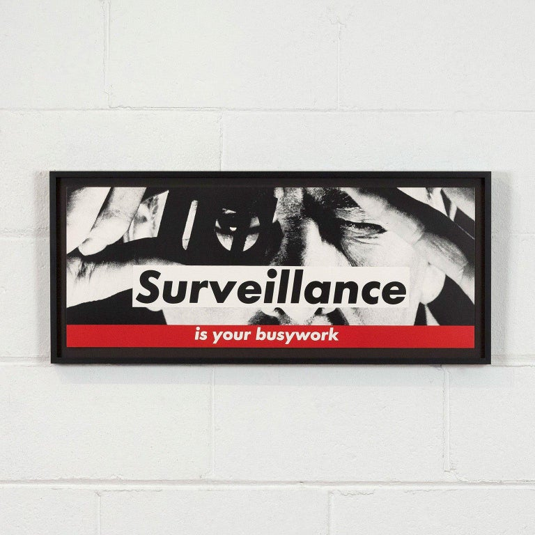 Surveillance  - Conceptual Print by Barbara Kruger