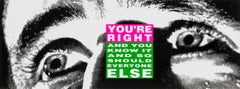 You're right -- Print, Lithograph, Text Art, Feminist Art by Barbara Kruger
