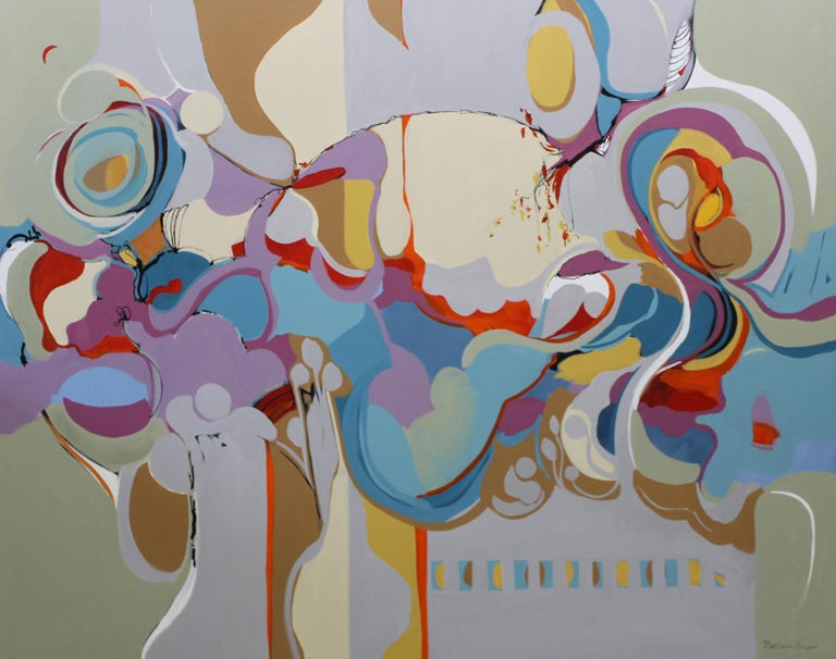 Barbara Krupp Abstract Painting - The Forest Floor- 48 x 60