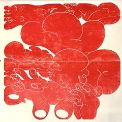 Circulation and transformation, Hand Printed Work, Woodcut