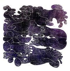 Dissolving the outer Skin/ colour violett (purple)