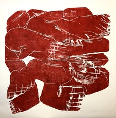 In and out simultaneousness, Hand Printed Work, Woodcut