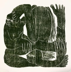 Turning to one point, Hand Printed Work, Woodcut