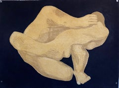 French Polish Woman Modernist Grenouille Abstract Nude Aquatint Etching