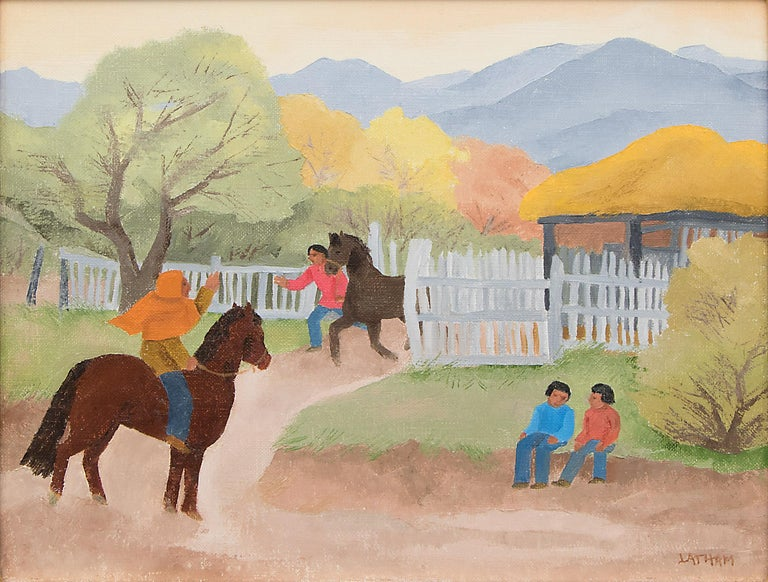For a Sunday Ride (New Mexico) - Painting by Barbara Latham