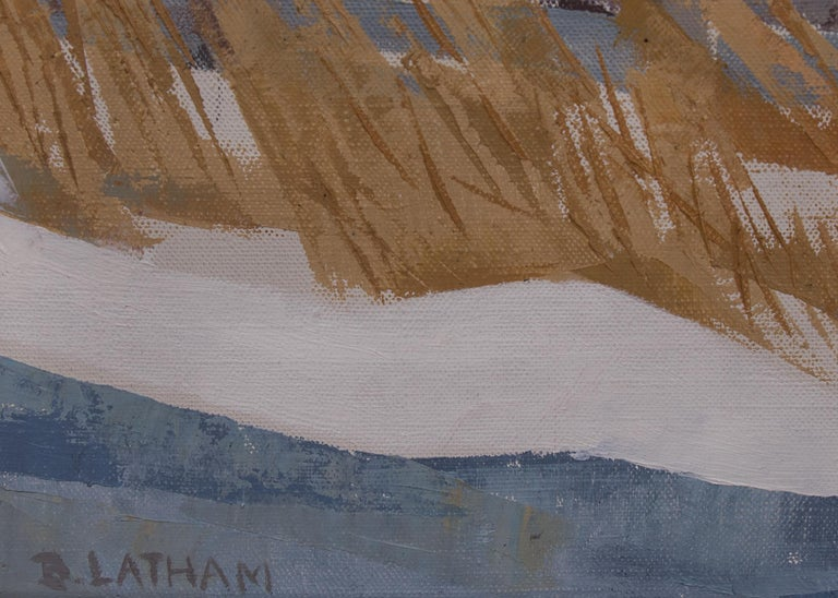 Indians Riding (Taos, New Mexico) - American Modern Painting by Barbara Latham