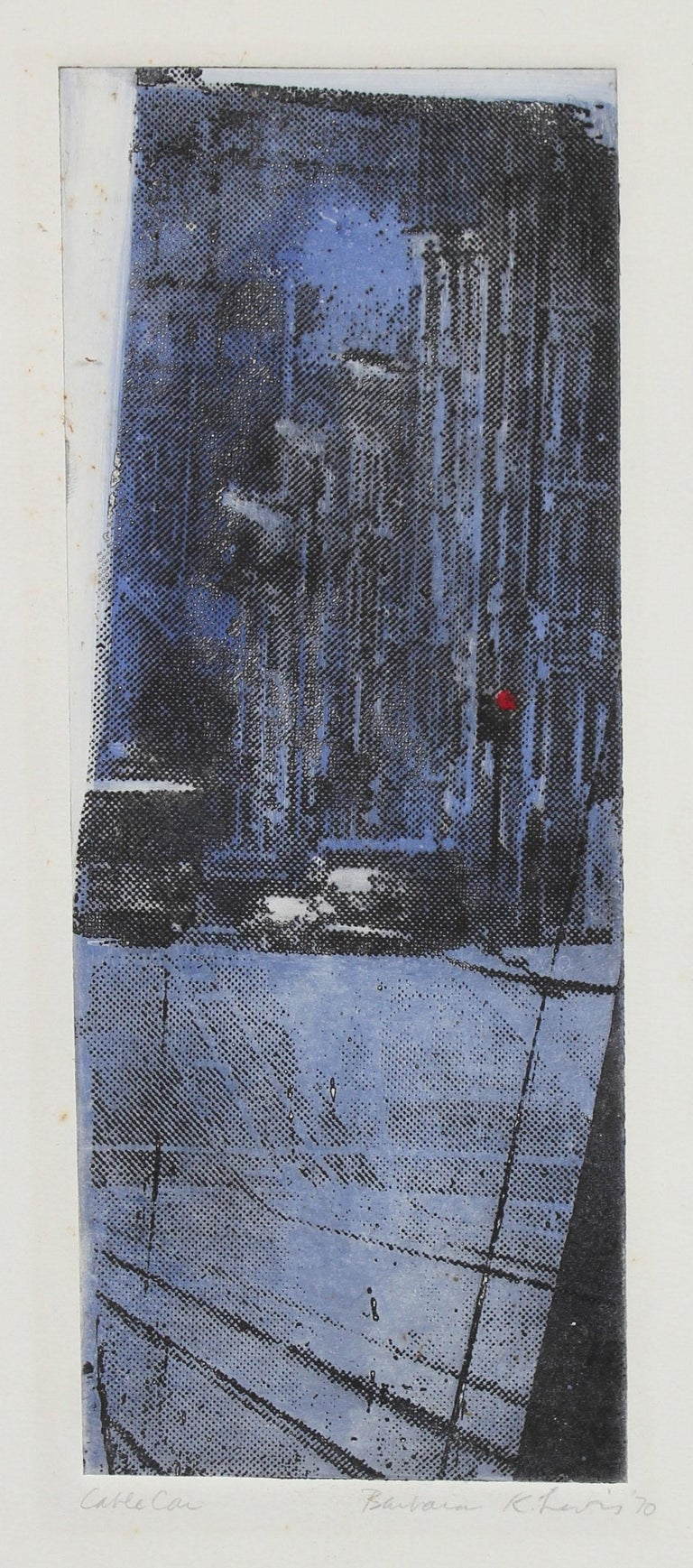 """1970s """"Cable Car"""" Photo-Etch on Paper  - Mixed Media Art by Barbara Lewis"""
