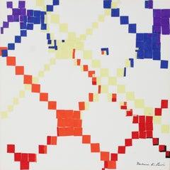 Colorful Geometric Collage 1967 Cut Paper