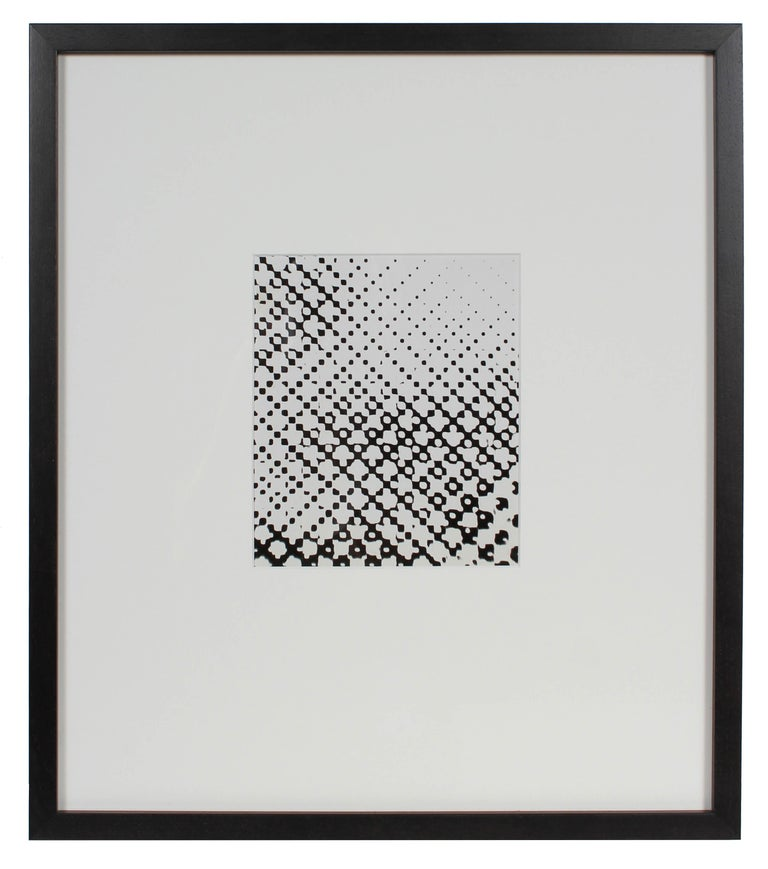 "Barbara Lewis Abstract Photograph -  ""Super Exposed Dot Screen"", American Modern B&W Monochromatic Photograph, 1969"