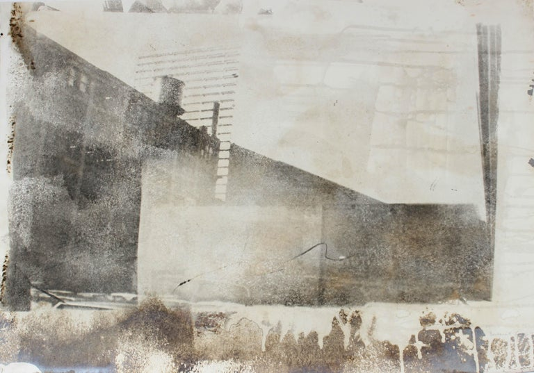 Barbara Lewis Landscape Print - Industrial Abstract Cityscape, Photo Emulsion Print, 1977