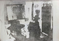 Men with Hats in Cityscape, Photo Emulsion Print, Circa 1970s