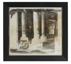 """Palais Royal"" Paris, France Photo Emulsion Print, Circa 1970s"