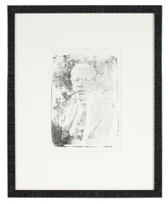 Portrait of Frederick Poole, Monochromatic Lithograph, 1969
