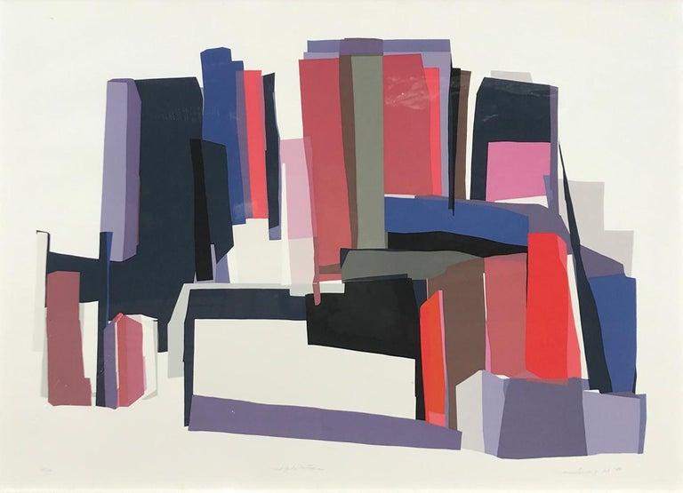 Barbara Lynch Zinkel Abstract Print - New York Nocturne