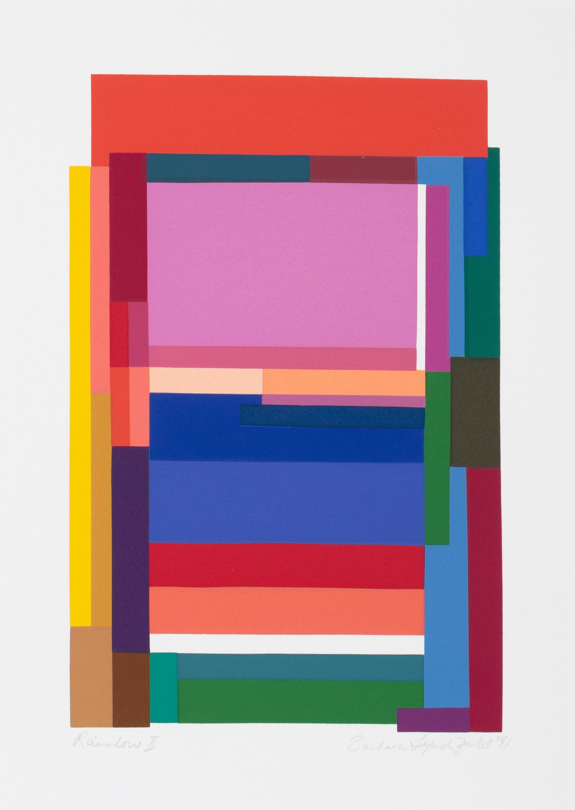 Rainbow II, Colorful Geometric Silkscreen