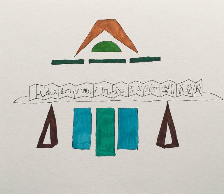 Barbara Marks Abstract Drawing - Make believe No. 1