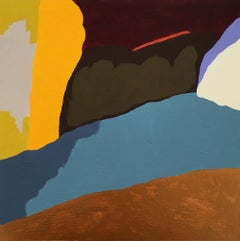 Recollection 126 (Stony Creek), earth tone abstract painting on panel