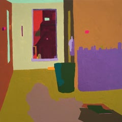 Recollection 133 (Monson), abstracted painting of house interior