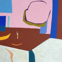 Recollection 27 (Stony Creek), pastel abstract painting of interior home