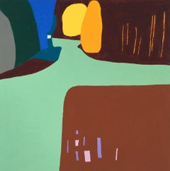 Recollection 41 (Mt. San Angelo), multicolored abstract landscape painting