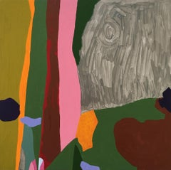 Recollection 66 (Stony Creek), multicolored painting of abstracted landscape