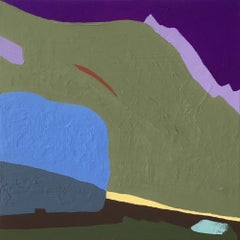 Recollection 90 (Brush Creek), abstract painting of mountainside