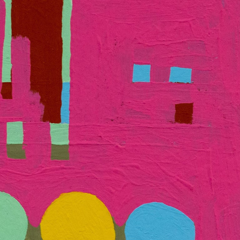 Recollection No. 38 - Pink Abstract Painting by Barbara Marks