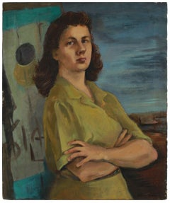 Intense Portrait of a Woman 1944-45 Oil