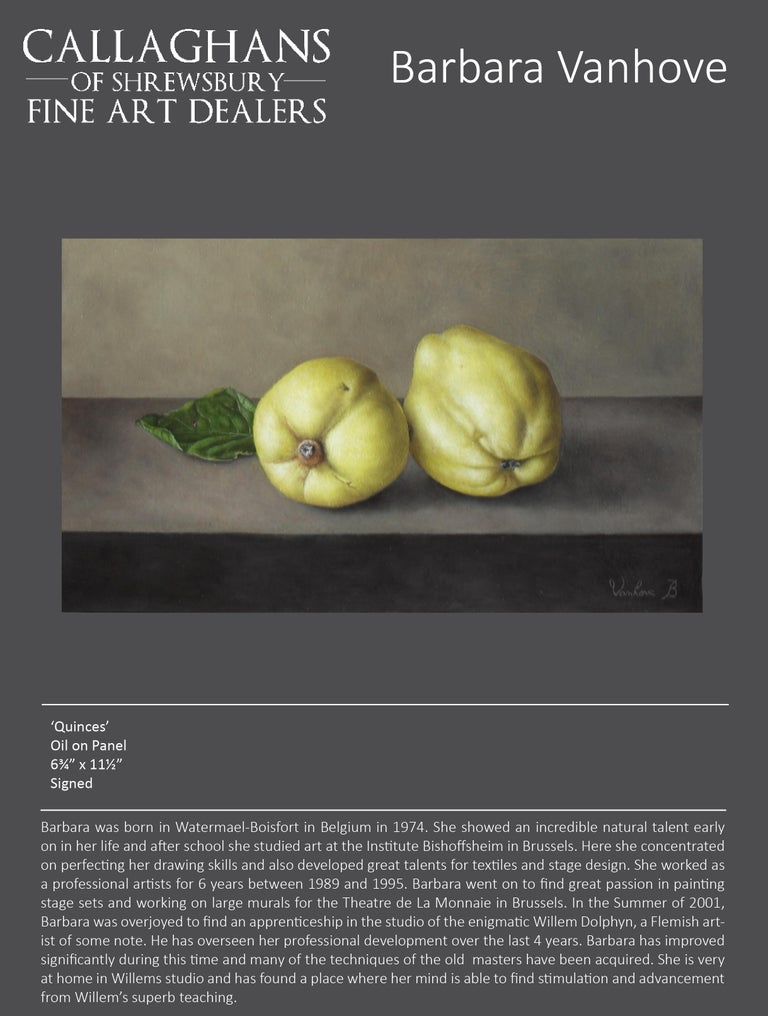 Contemporary Realist Still-Life 'Quinces' by Barbara Vanhove For Sale 1