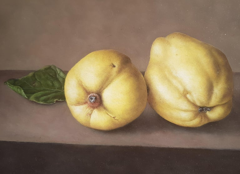 Contemporary Realist Still-Life 'Quinces' by Barbara Vanhove For Sale 3