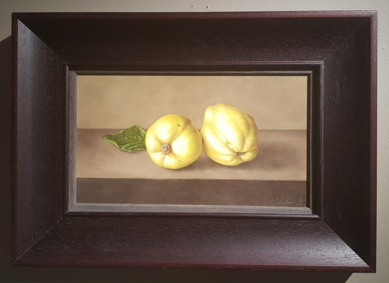 Contemporary Realist Still-Life 'Quinces' by Barbara Vanhove For Sale 4