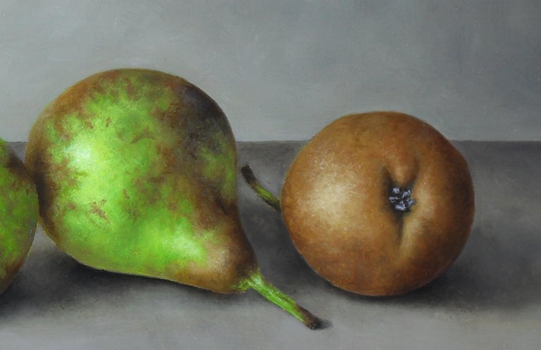 Contemporary Still-Life Painting 'Trio of Pears' by Barbara Vanhove  For Sale 2