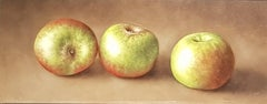 Realist Contemporary Still-Life Painting 'Trio of Apples' by Barbara Vanhove