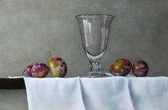 Still-Life Painting 'Victoria Plums' by Barbara Vanhove, akin Dutch Masters