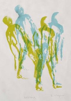 Ambling.  Contemporary Silk Screen Figurative Print