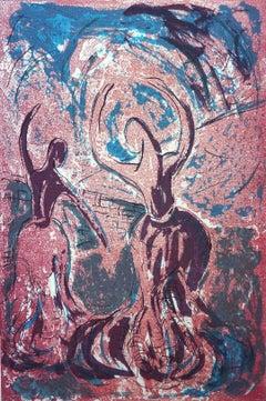 Dancers 12. Contemporary Figurative Mono Print