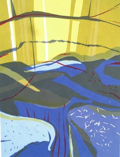 River Dart. Contemporary Mono Print