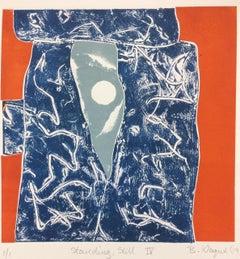 Standing Still IV. Contemporary Mono Print