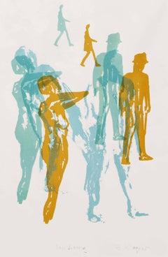 Wandering. Contemporary Mono Print