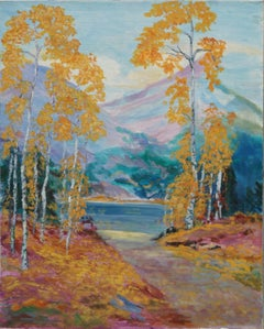 Aspens in Autumn Landscape
