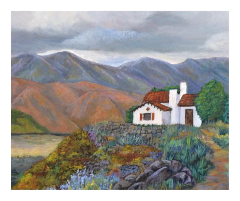 Desert Home Landscape - Painting by Barbara Wilson