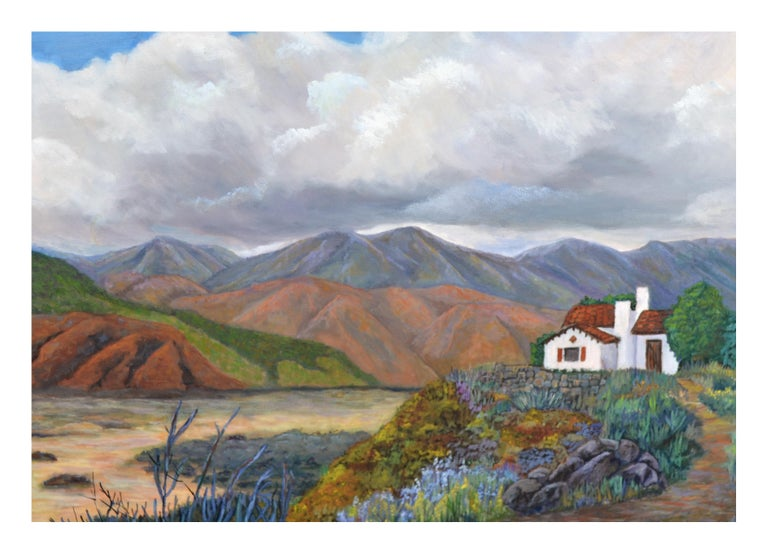 Barbara Wilson Landscape Painting - Desert Home Landscape