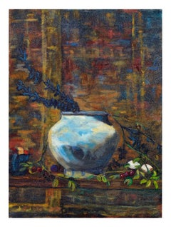 Modernist Blue Vase Still Life