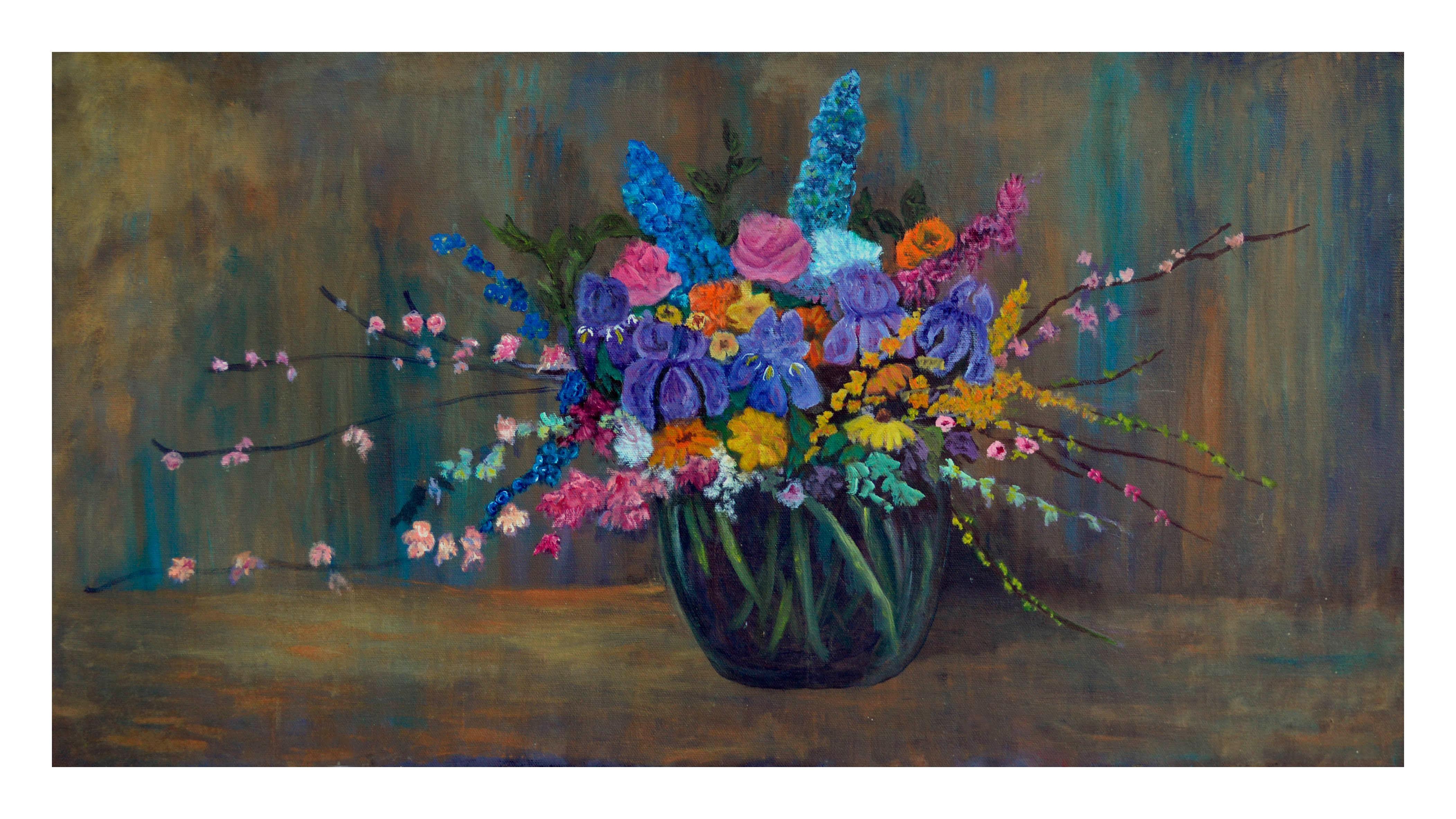 Spring Bouquet - Horizontal Floral Still Life