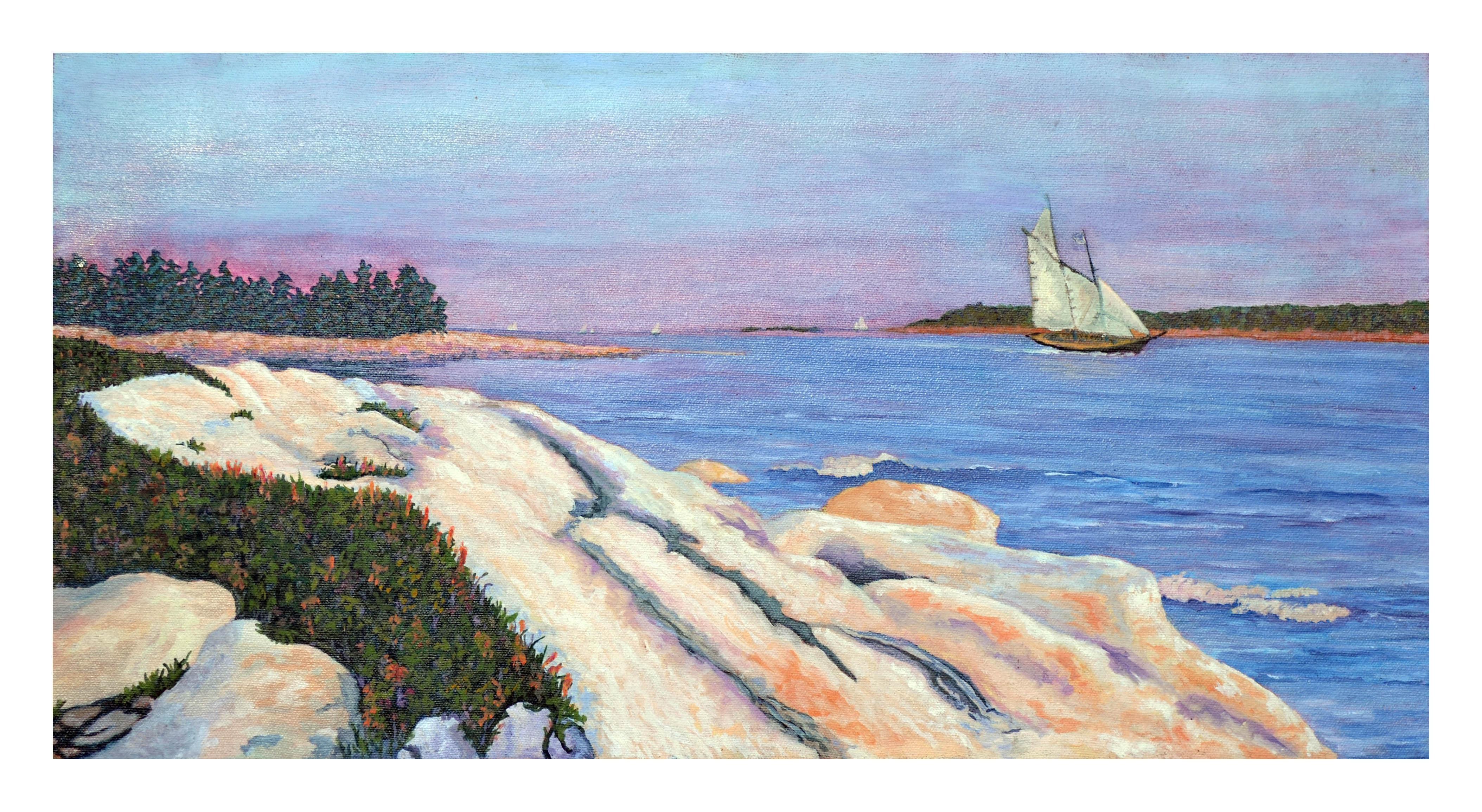 Sunset Sail Landscape