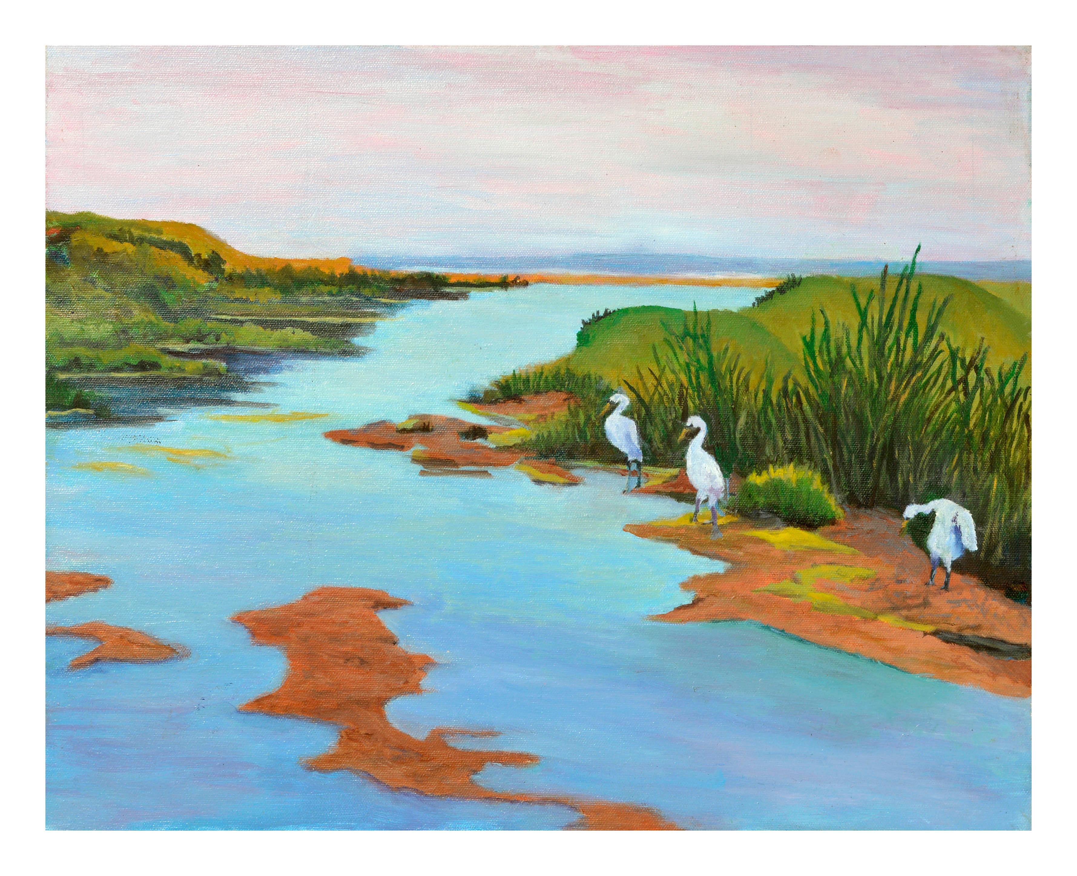 Three Cranes Coastal Landscape