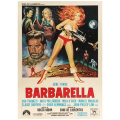 'Barbarella' Original Vintage Movie Poster, Italian, 1968