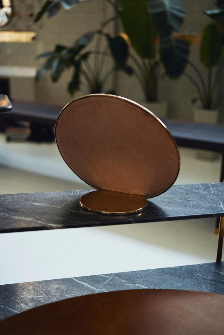 Post-Modern Barbera 'Bronze' Makeup Mirror, Cast Solid Bronze For Sale